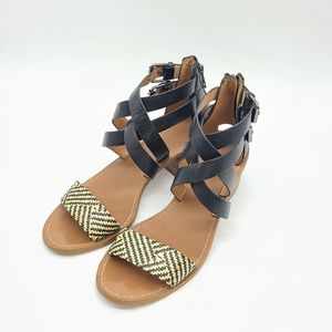 Madewell The Lora Sandal Black Double Straps